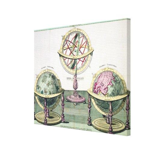Representaciones típicas de las esferas artificial impresión en tela