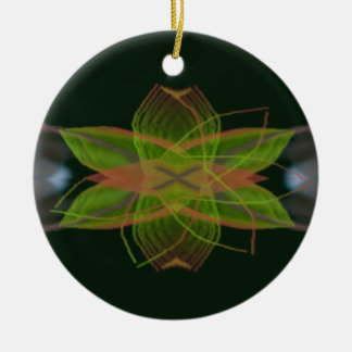 Representaciones visuales psicodélicas adorno navideño redondo de cerámica