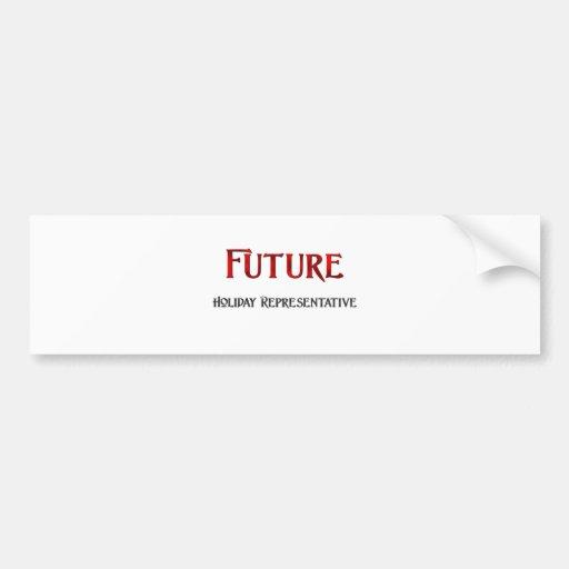 Representante futuro del día de fiesta pegatina para auto