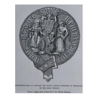 Representation of Edward the Black Prince Postcard