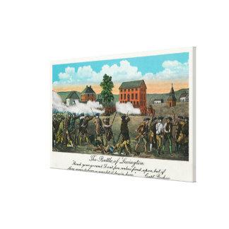 Representation of the Battle of Lexington Canvas Prints