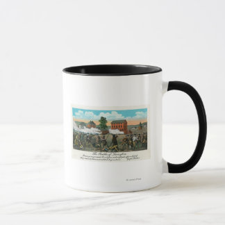 Representation of the Battle of Lexington Mug