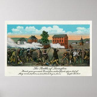 Representation of the Battle of Lexington Print