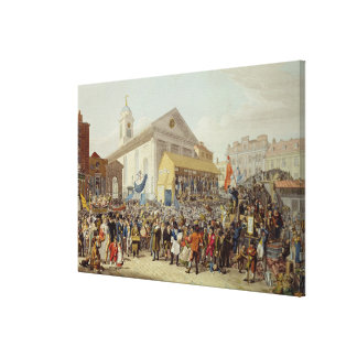 Representation of the Election of Members Canvas Print