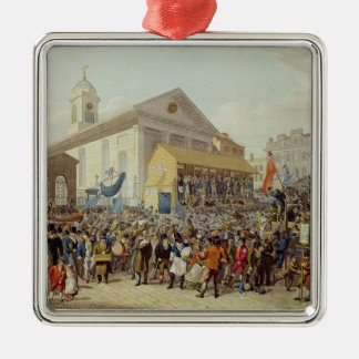 Representation of the Election of Members Metal Ornament