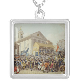 Representation of the Election of Members Silver Plated Necklace