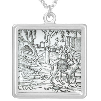 Representation of the Plague, 1572 Silver Plated Necklace