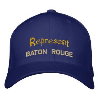 Represente el casquillo de Baton Rouge Gorro Bordado
