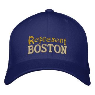 Represente el casquillo de Boston Gorro Bordado