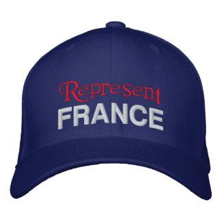 Represente el casquillo de Francia Gorra De Béisbol