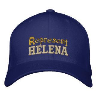 Represente el casquillo de Helena Gorra Bordada