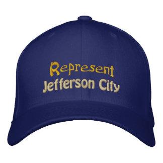Represente el casquillo de jefferson city gorra de béisbol bordada