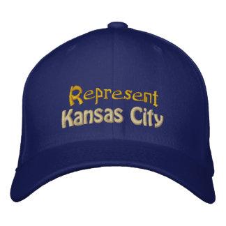 Represente el casquillo de Kansas City Gorra De Beisbol Bordada