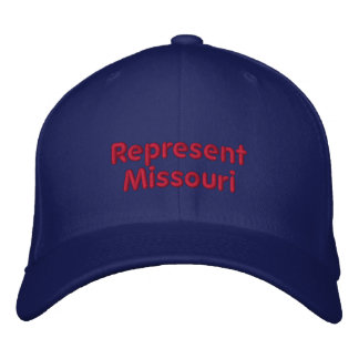 Represente el casquillo de Missouri Gorras Bordadas