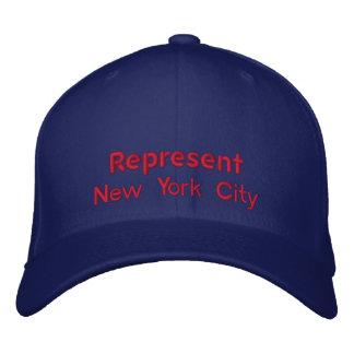 Represente el casquillo de New York City Gorro Bordado
