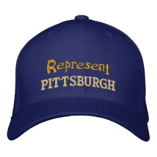 Represente el casquillo de Pittsburgh Gorras De Béisbol Bordadas
