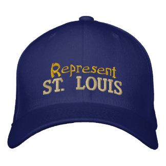 Represente el casquillo de St. Louis Gorras Bordadas