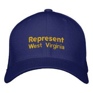 Represente el casquillo de Virginia Occidental Gorros Bordados