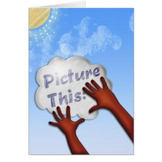 Represente esto - para inspirar y para animar -1 tarjeta de felicitación