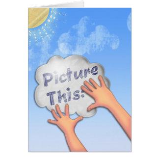 Represente esto - para inspirar y para animar -2 tarjeta de felicitación