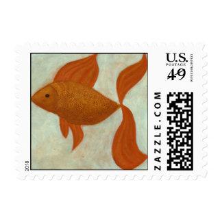 Represente los sellos de un pescado del cuento