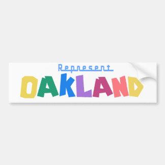 Represente Oakland Pegatina Para Auto