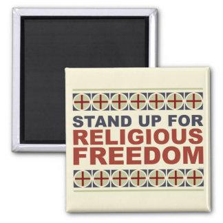 Represente para arriba la libertad religiosa imán cuadrado
