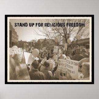 Represente para arriba la libertad religiosa poster