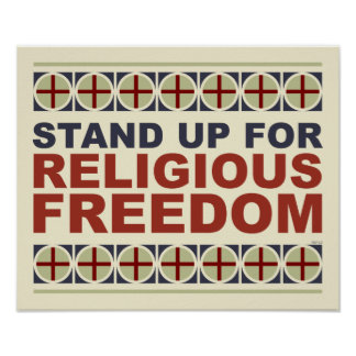 Represente para arriba la libertad religiosa póster