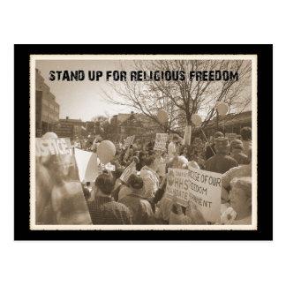 Represente para arriba la libertad religiosa tarjeta postal