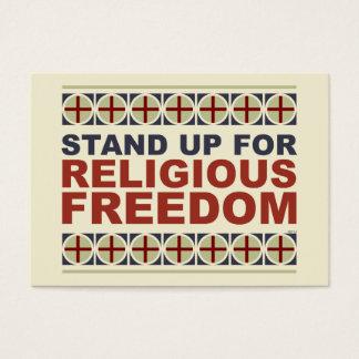 Represente para arriba la libertad religiosa tarjetas de visita grandes