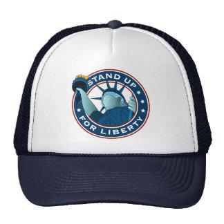 Represente para arriba libertad gorras