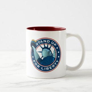 Represente para arriba libertad tazas de café