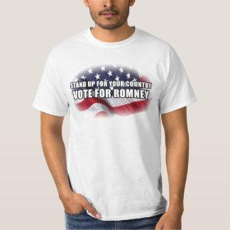 Represente para arriba su país, voto para Romney Poleras
