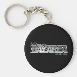 Representin' The Bay Area Basic Round Button Keychain