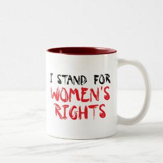 Represento la taza de las derechas de las mujeres