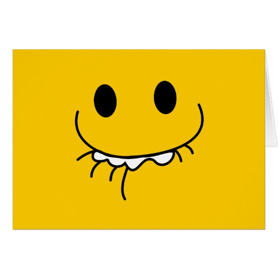 Repressed laughter smiley face card