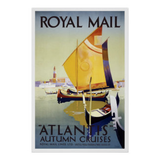 Reprint of a Vintage British Cruise Ship Poster