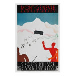 Reprint of a Vintage Mont Geneva Travel Poster