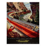 Reprint of a Vintage US Railway Poster