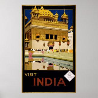Reprint of a Vintage Visit India Tourism Poster