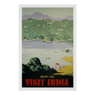 Reprint of a Vintage Visit India Tourism Poster