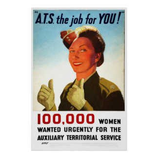Reprint of a WW2 British ATS Recruiting Poster