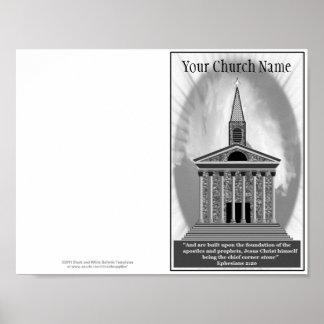 Reprintable Church Bulletin Master Template Poster