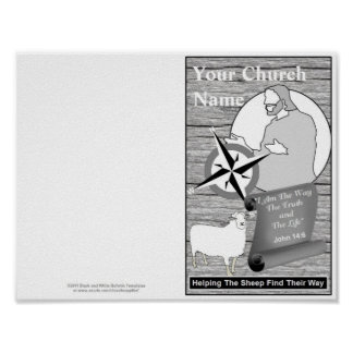 Reprintable Church Bulletin Template Poster