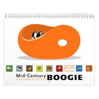 *reprinted* 2015 del calendario de la boogie de