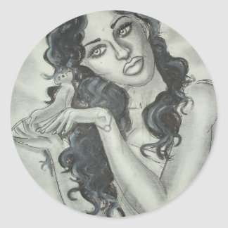 Reprinted Painting by David Berbia Classic Round Sticker