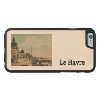 Reproducción 1908 de Le Havre Le Casino Funda De iPhone 6 Carved® Slim De Arce