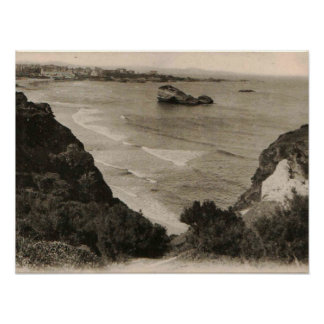 Reproducción 1910 de Francia de la playa de Póster