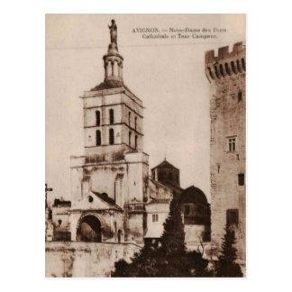 Reproducción 1915 de Aviñón Francia de la catedral Tarjeta Postal